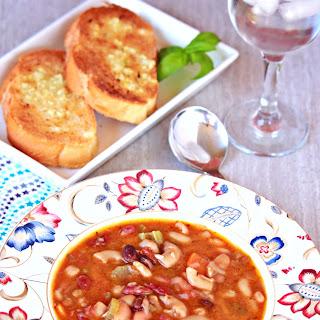 Vegetarian 15 Bean Soup in Instant Pot.