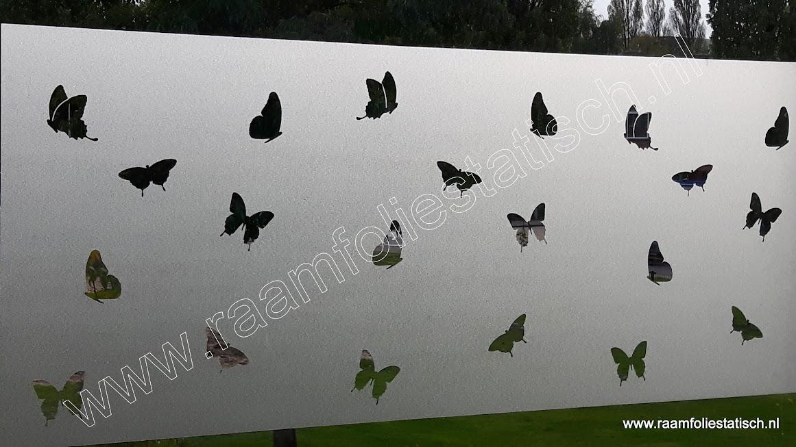 Statische raamfolie uitgesneden vlinders 60cm