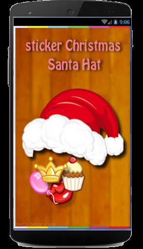 Sticker christmas santa hat