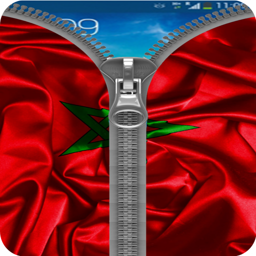 Morocco Flag Zipper Lock