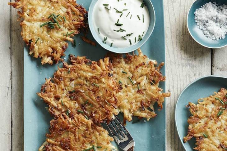 Chive Potato Pancakes Recipe | Yummly