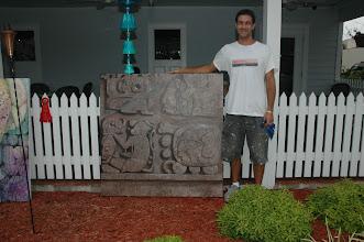 Photo: 1st Place Winner, Teig Grennan, with his winning mural