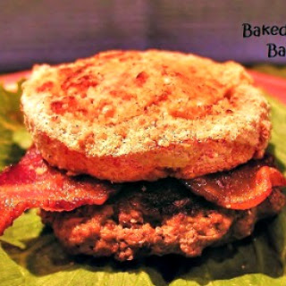 Baked Tomato and Bacon Burger.