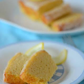 Lemon Pound Cake with Coconut Butter Glaze.
