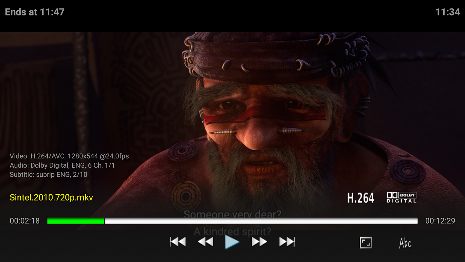Vimu Media Player for TV- screenshot