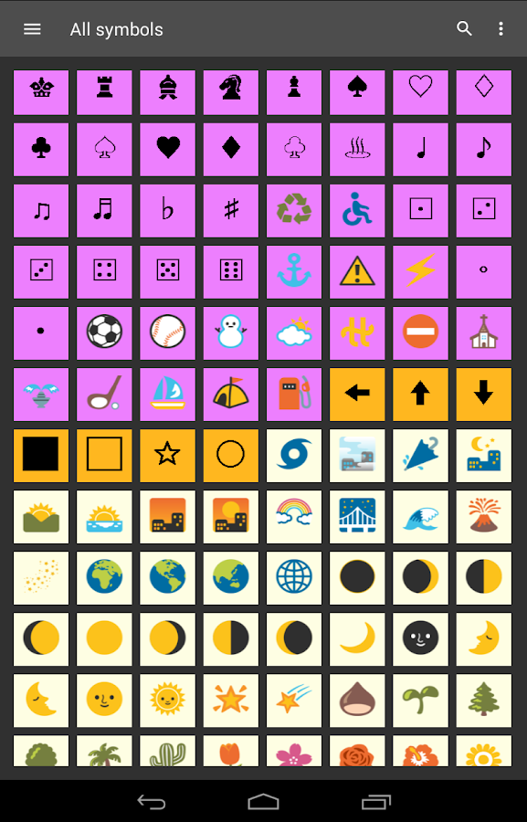 Symbols Shortcuts 2 with custom Keyboard- screenshot