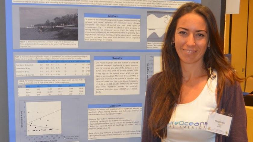 Marga López estudió biología en la Universidad de Granada.