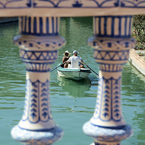 Rowing boat in Seville by Francis Xavier Camilleri - Transportation Boats