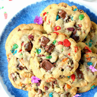 One Bowl Fruity Pebbles Chocolate Chunk Cookies.