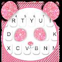 Glitter Pink Panda Keyboard Theme icon