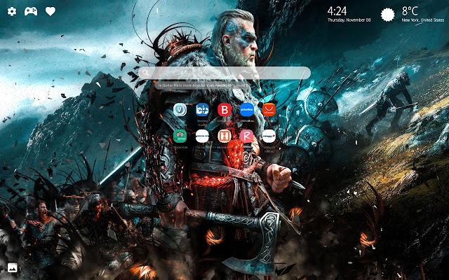 Assassin's Creed Valhalla HD New Tab
