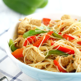 Teriyaki Chicken Rice Noodles.