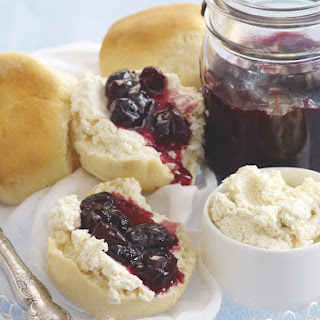 Cherry Jam and Ricotta with Scones