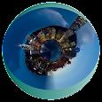 Tiny Planet - Globe Photo