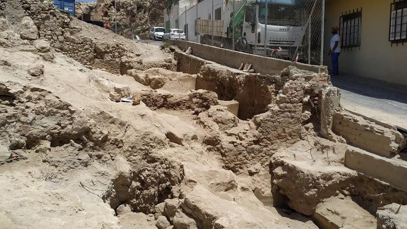 Vista general de los restos arqueológicos