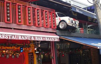 Photo: A mini Cooper at a mini bar - clever