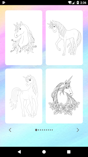 Unicorn Coloring Book  captures d'u00e9cran 2