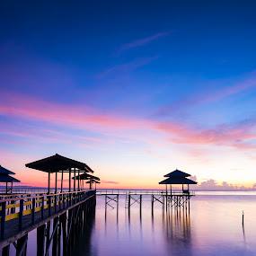 Calm... by Robertho Ponomban - Landscapes Waterscapes ( water, harbour, sunrise, beach, landscapes )