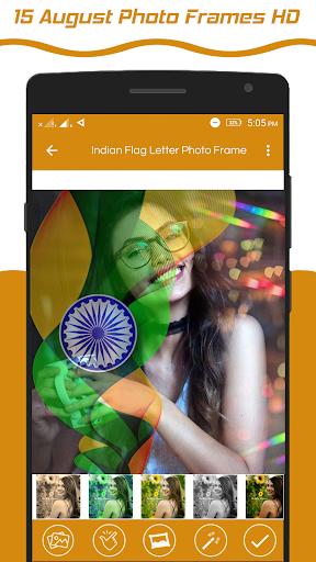 Indian Flag Latter Wallpaper , Flag Photo Frame screenshot 7