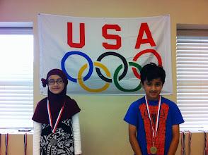 Photo: 100 Meter Run Jazib (G) Humna (S) MahmoudIsmail(B)