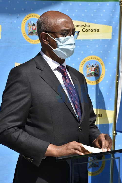 Health CAS Rashid Aman during the daily press briefing on coronavirus pandemic at KEMRI headquarters on August 27, 2020/ MERCY MUMO