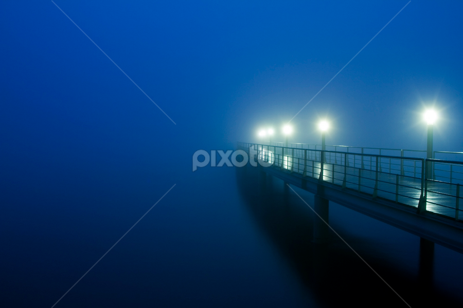 Cold Blue Night by Nuno Martins - Landscapes Starscapes ( expo, lisbon, vasco da gama, pier, parque das nações )