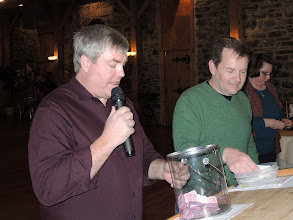 Photo: The most important part of the evening - the drawing for door prizes!