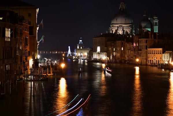 notte sul canal grande di renzo brazzolotto