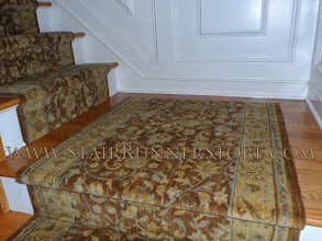 Photo: Stair runner landing with serged end.  http://www.StairRunnerStore.com