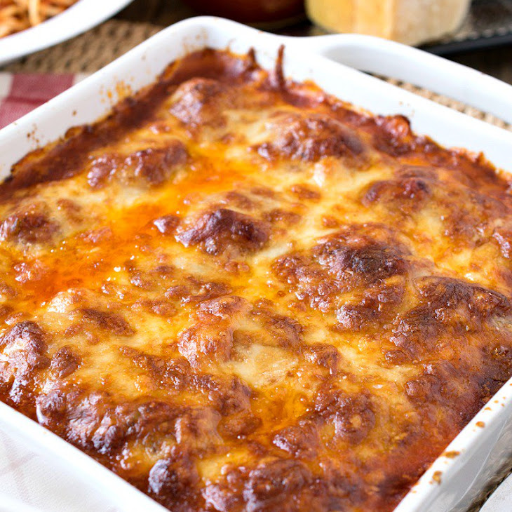 Baked Meatball Parmesan Recipe