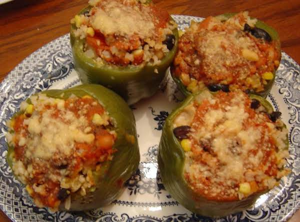 Vegetarian Stuffed Peppers (slow-cooker Style)
