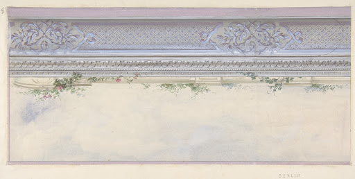 Design for the Decoration of a Ceiling Cove in the Hôtel de Pless, Berlin