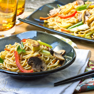 Vegetable Lo Mein Recipe (Homemade Noodles)