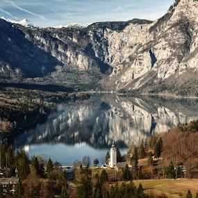 Bohinjsko jezero by Bojan Kolman - Landscapes Mountains & Hills (  )