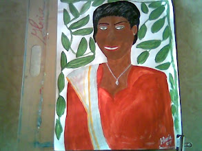 Photo: Andra Pradesh Lady, sketch only on my drawing board, watercolors,2007