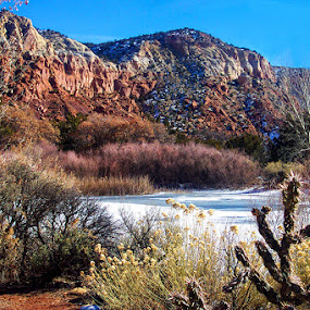 Landscape Northern New Mexico by Nancy Tubb - Landscapes Mountains & Hills ( mountains, snow, spring melt, landscape )