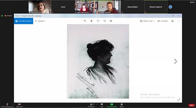 María Dolores Durán abordó en su exposición la figura y obra de pintoras almerienses desde el siglo XIX.