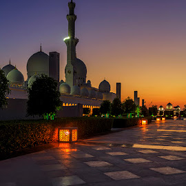 God's House by Hendrik Priyanto - Buildings & Architecture Places of Worship ( building, still life, blue hour, mosque, abu dhabi, architecture )
