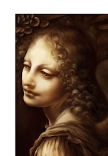 Photo: Leonardo da Vinci's Angel of the Madonna of the Rocks is the starting point. Just pop that on into Photoshop. Then...(next image)