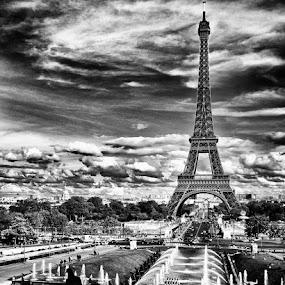 Eiffel Tower by Brandon Rechten - Buildings & Architecture Public & Historical ( pwcbuilding )