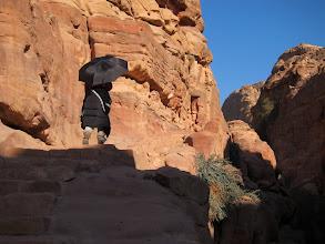 Photo: Climbing up to the monastery