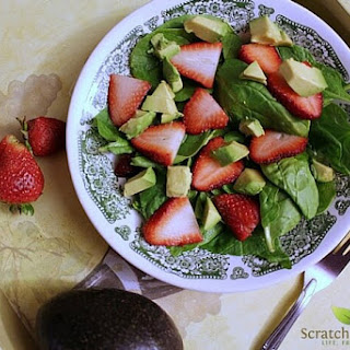 Strawberry Avocado Spinach Salad with 'From Scratch' Poppyseed Dressing.