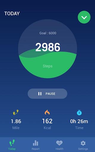 Step Counter - Pedometer Free & Calorie Counter screenshot 1