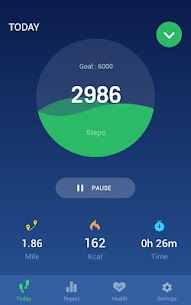 Step Counter – Pedometer Free & Calorie Counter MOD APK 1.1.7 (Unlocked) 1