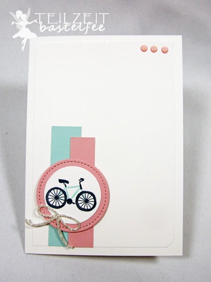 Stampin' Up! - IN{K}SPIRE_me Sketch Challenge #355, Baum der Freundschaft, Sheltered Tree, Birthday, Geburtstag, Fahrrad, Bike