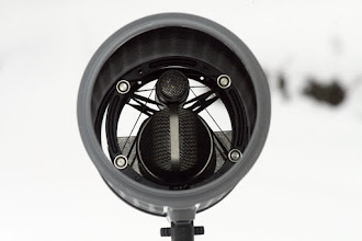 Photo: The mid-side mic is light and can be easily fit with suspansion.