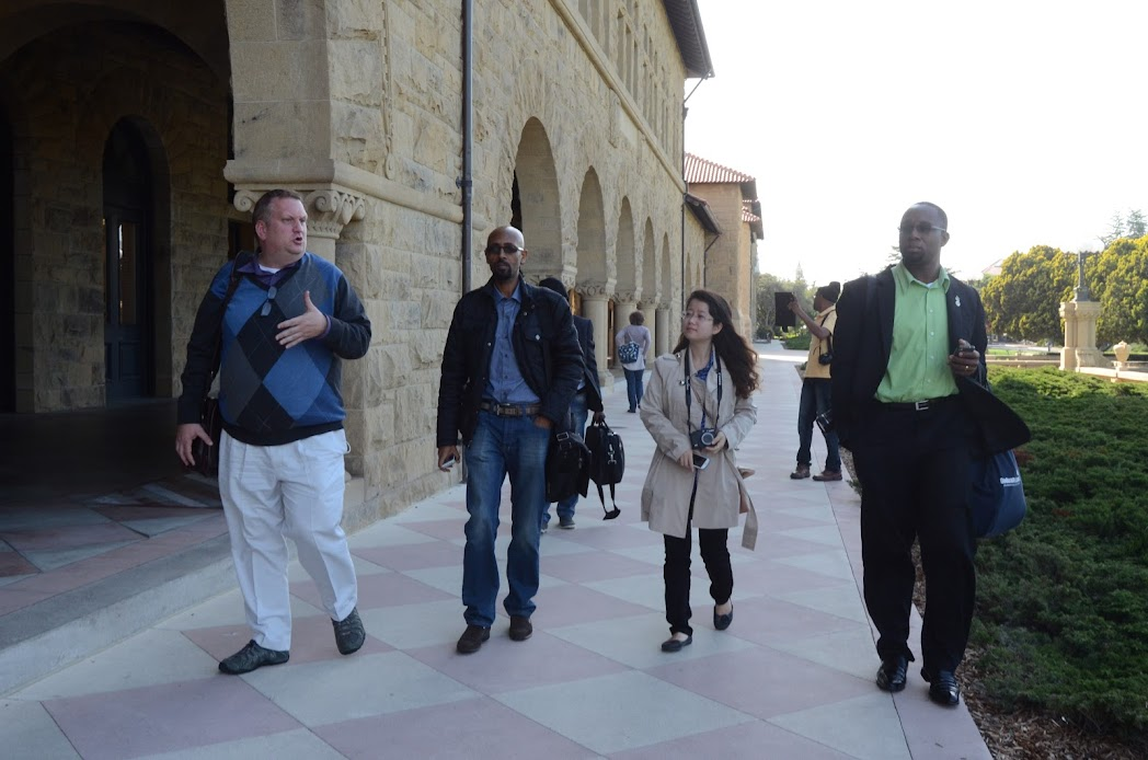IVLP new media fellows visiting Stanford