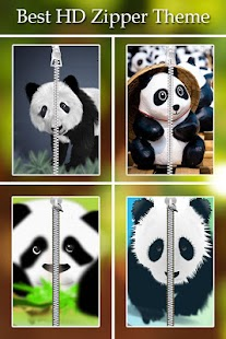 Panda Zipper Lock screenshot
