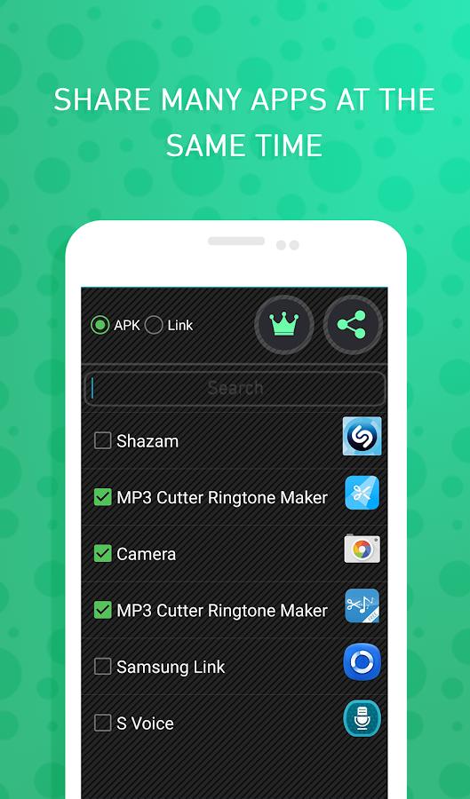 Send apps via Bluetooth