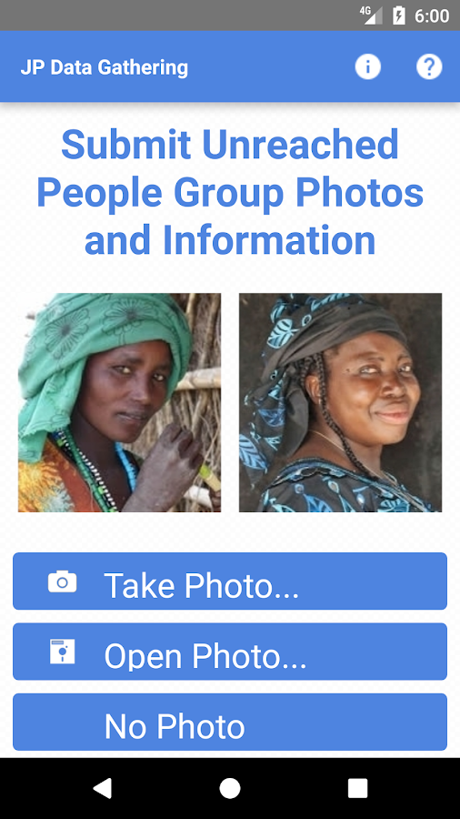 Unreached Photo and Data App- screenshot
